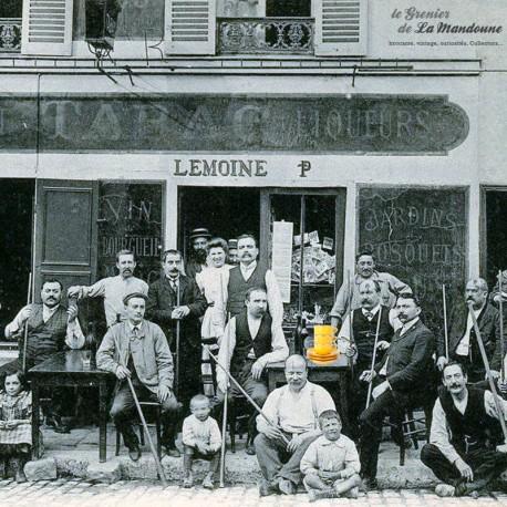 Le Grenier de la Mandoune. 3 tasses à café Bistrot APILCO Jaune, Yves Deshoulières. French Vintage