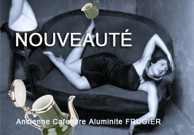 Ancienne Cafetière Aluminite FRUGIER Limoges France, et son pot à lait. French Vintage